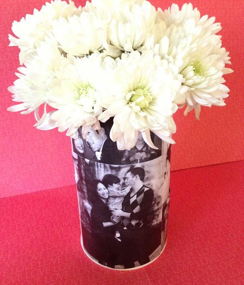Decoupage Photo Vase