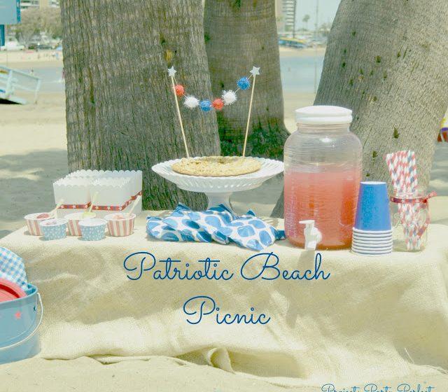 Patriotic Beach Picnic
