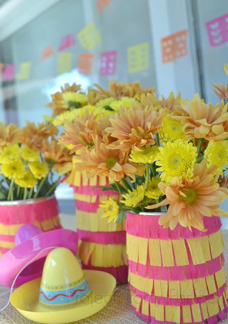 {DIY} Fiesta Fringe Vase