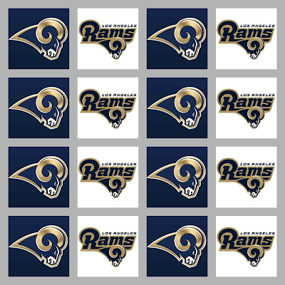 Los Angeles Rams printable.
