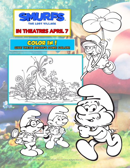 #SmurfsMovie The Lost Village Activity Sheets