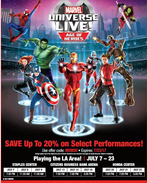 SAVE up to 20% on Marvel Universe LIVE! Age of Heroes