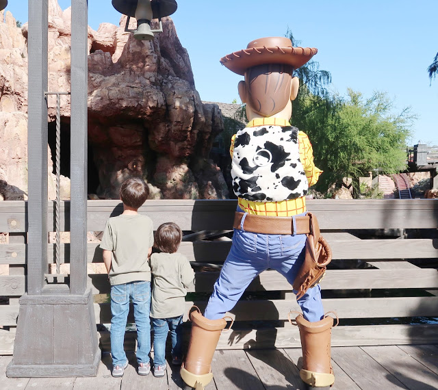 During Pixar Fest, see Woody at Frontierland.