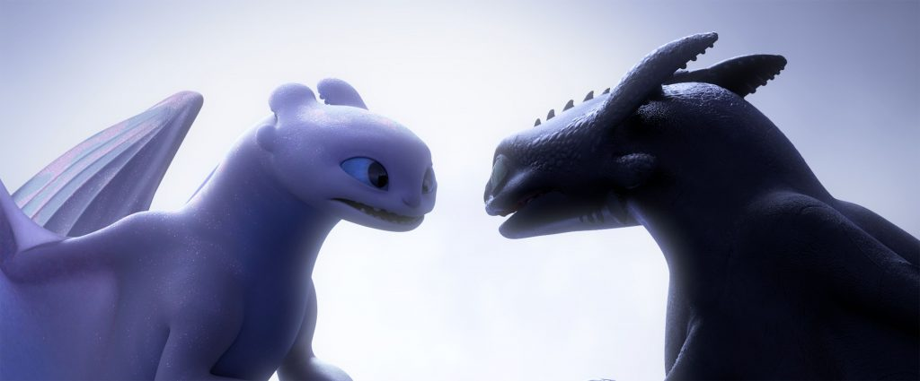 Light Fury and Night Fury in How To Train Your Dragon: The Hidden World