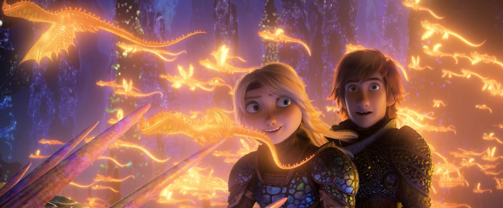 Astrid and Hiccup in How To Train Your Dragon: The Hidden World