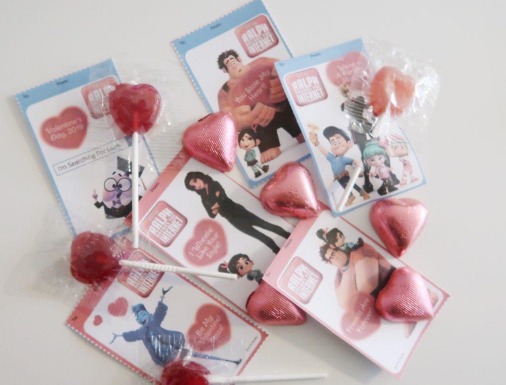 Ralph Breaks The Internet Valentine's Day Printable