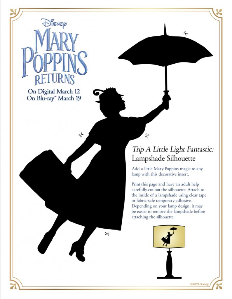 Mary Poppins Returns Activity Sheets