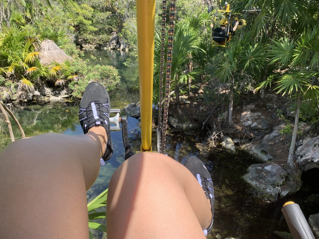 Zip-Bike at Xel-ha park