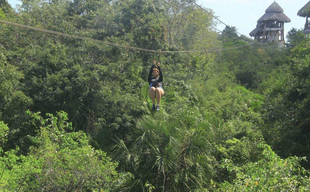 Zip-lining at Xplor