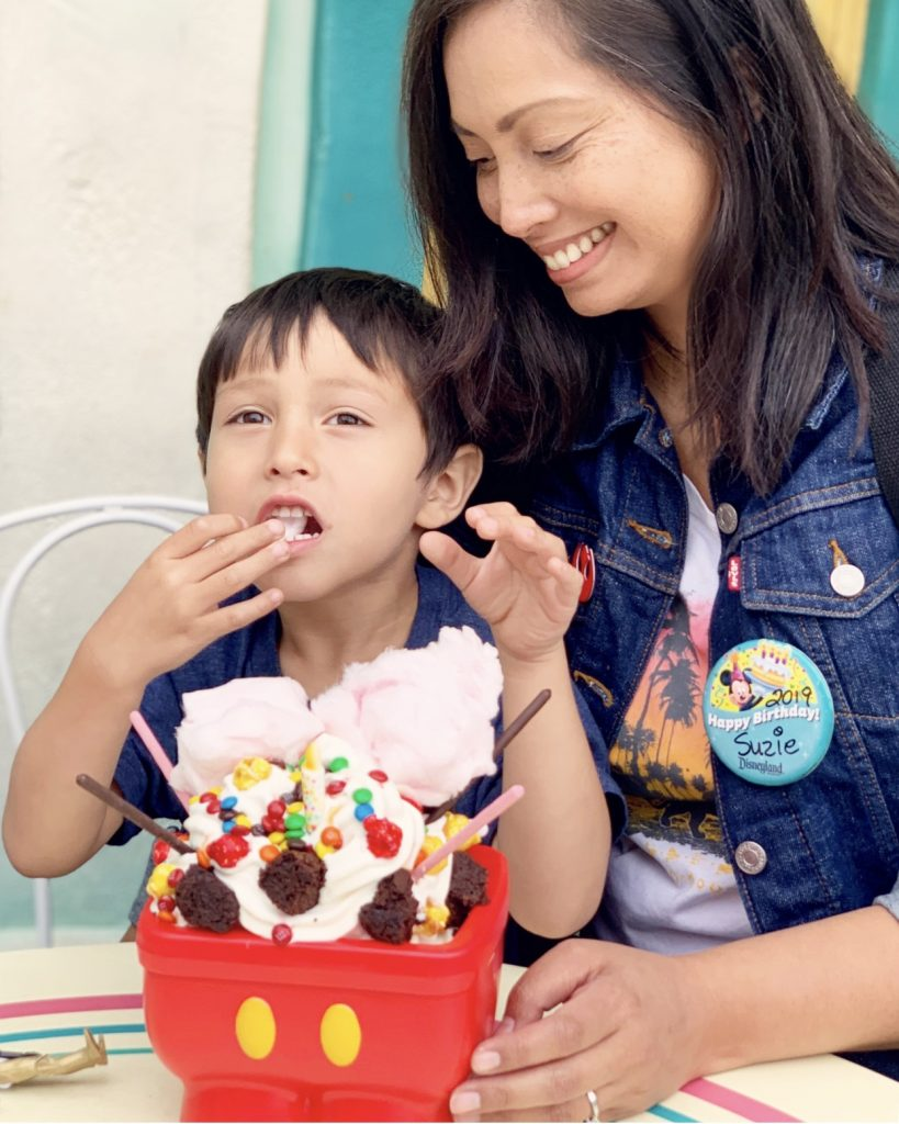 Mickey Mouse Birthday Sundae