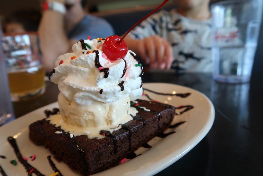 Dessert at Splitsville Anaheim