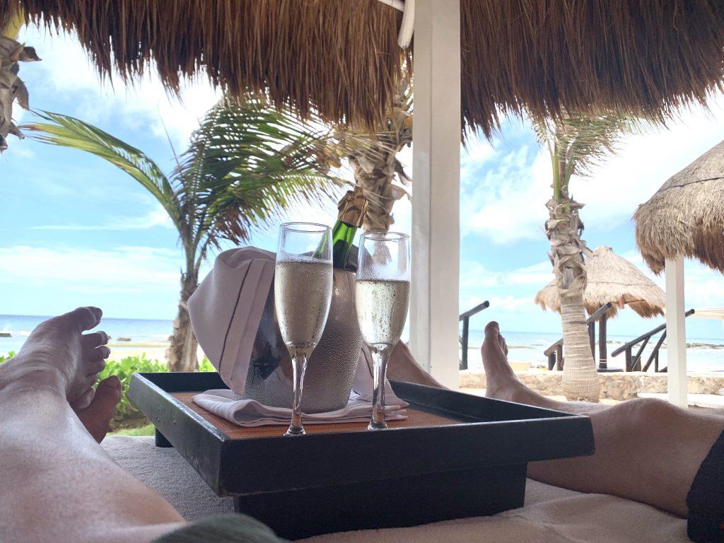 Bali bed in Riviera Maya