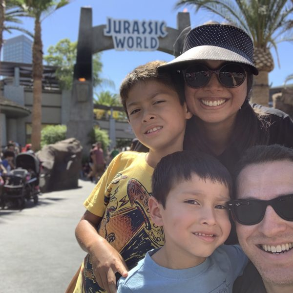 Jurassic World The Ride with kids