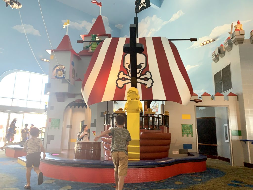 Pirate Ship at LEGOLAND hotel.