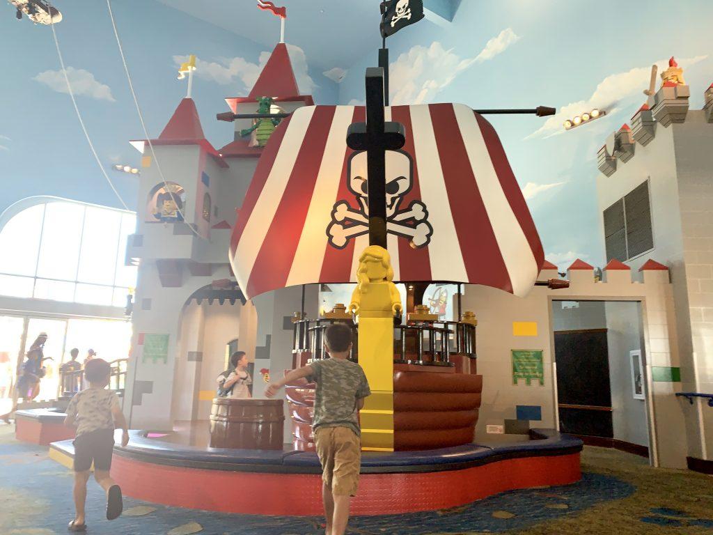 Pirate Ship at LEGOLAND hotel.