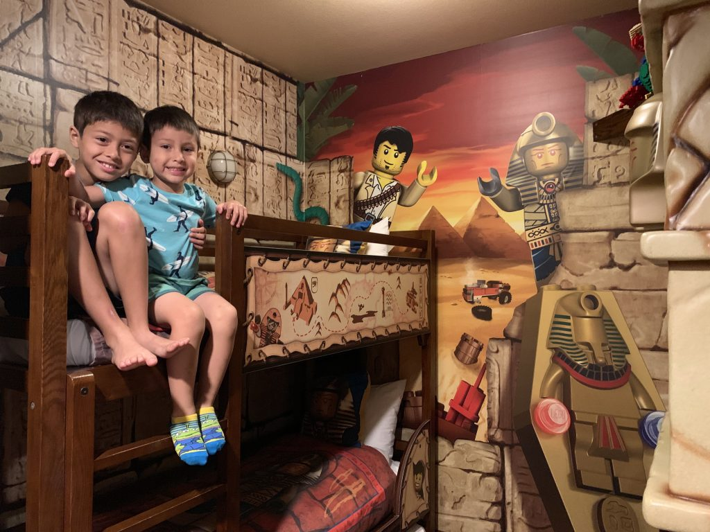 Adventure themed room at LEGOLAND CA Hotel