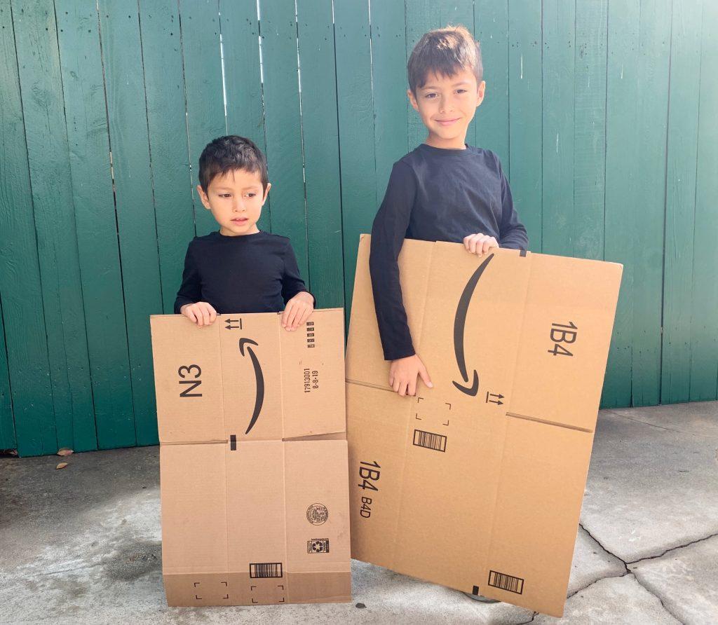 Boxtumes with Amazon smile boxes