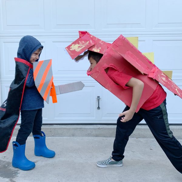 Boxtumes Knight and Dragon Costumes