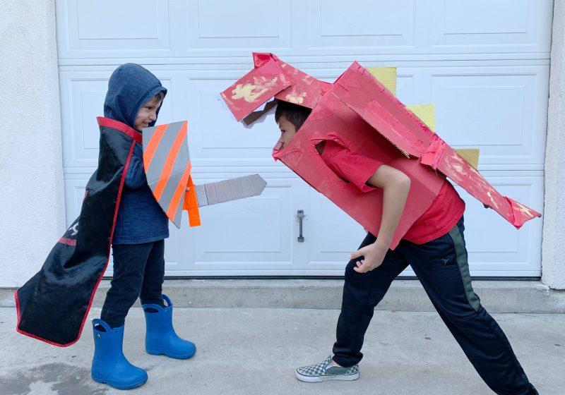 BOXTUMES: Create a Knight & Dragon Costume with Amazon Smile Boxes