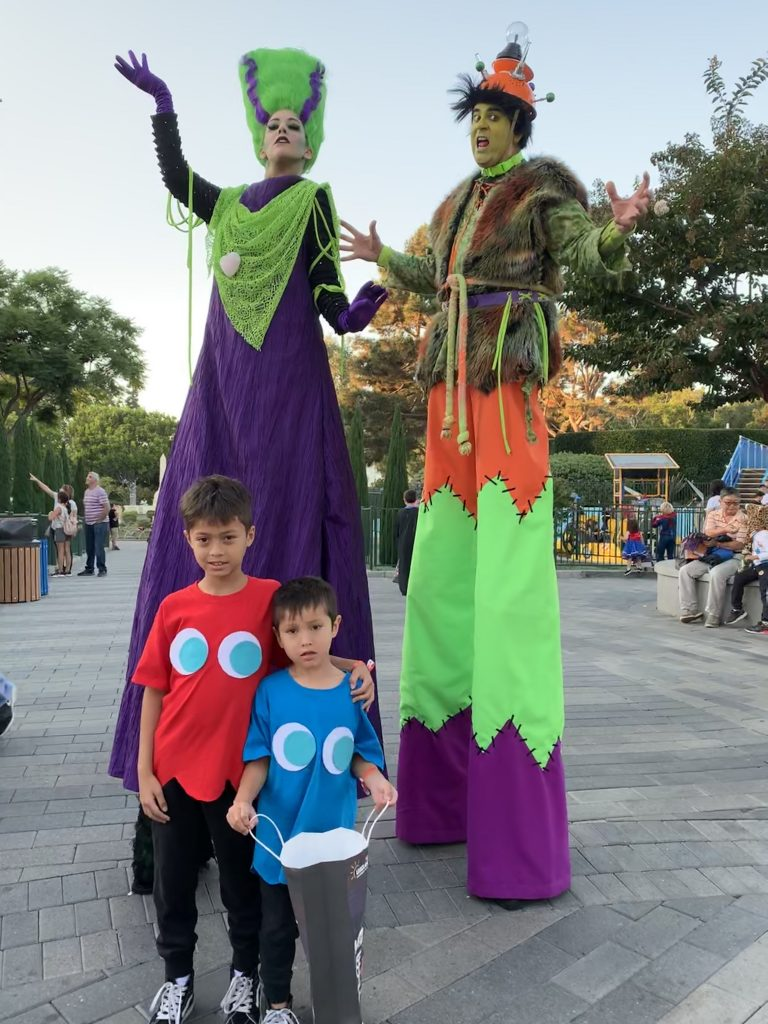 Brick or Treat Stilt Walkers
