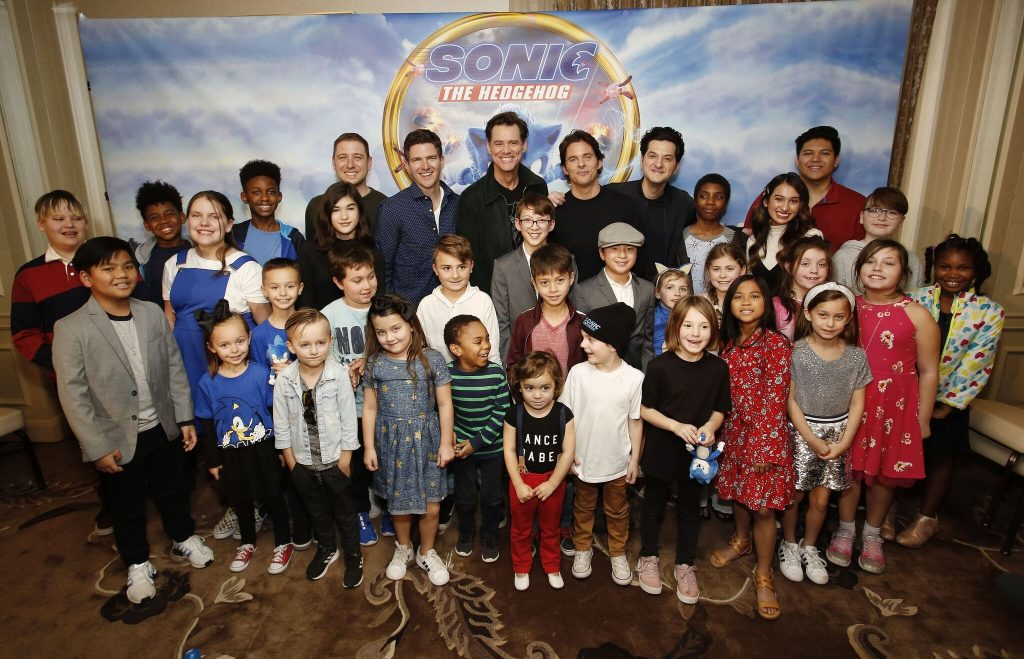 Sonic The Hedgehog Press junket with kids