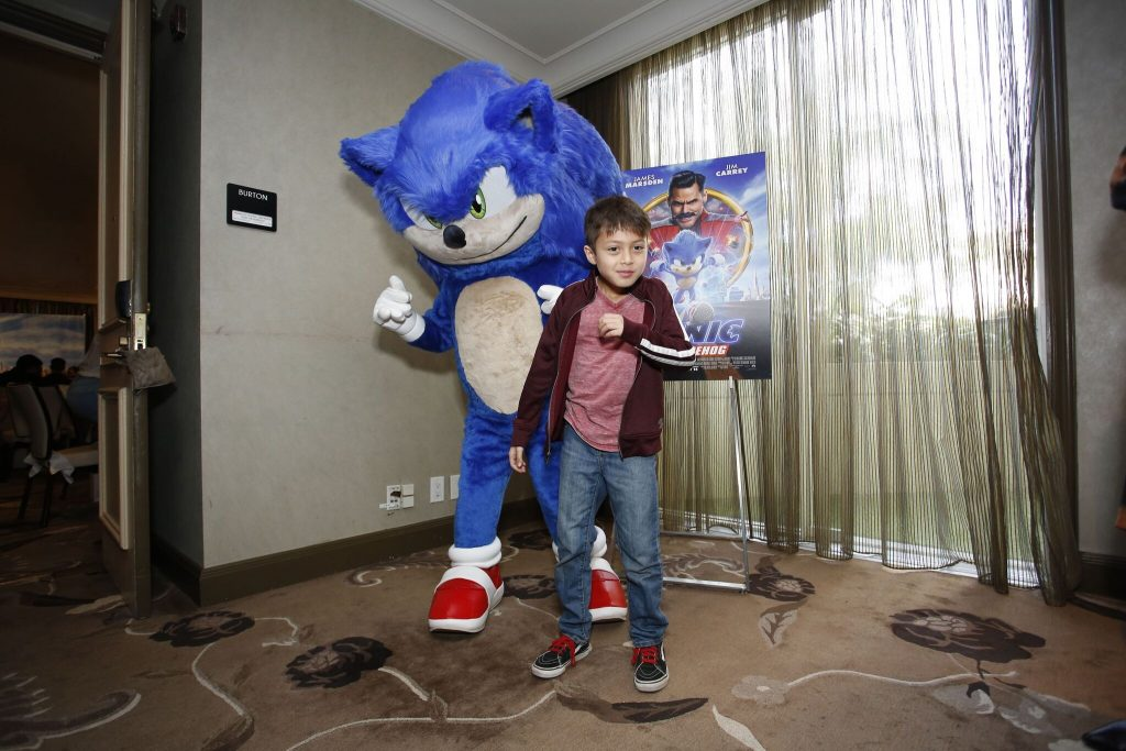 Sonic the Hedgehog press junket