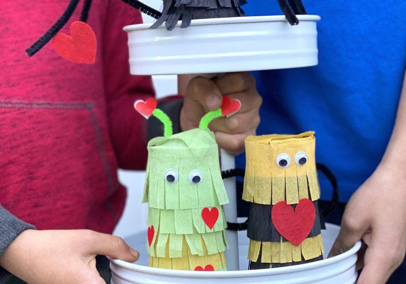 Valentine's Day: Mini LOVE Bug Piñatas