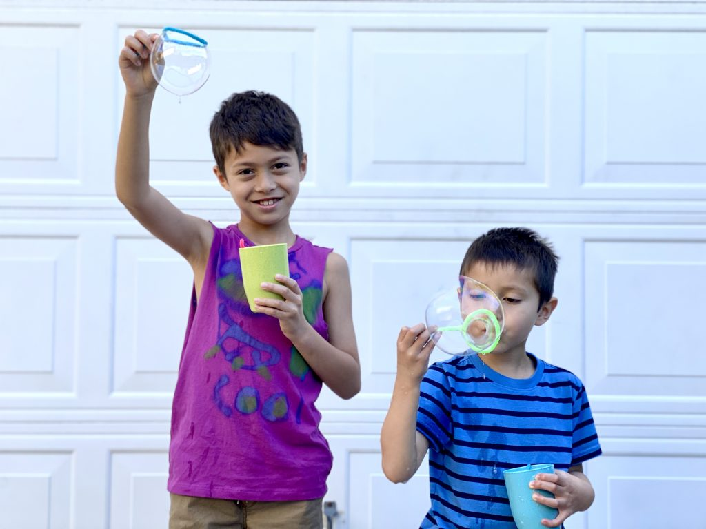 Homemade Bubble Wands and Bubble Solution