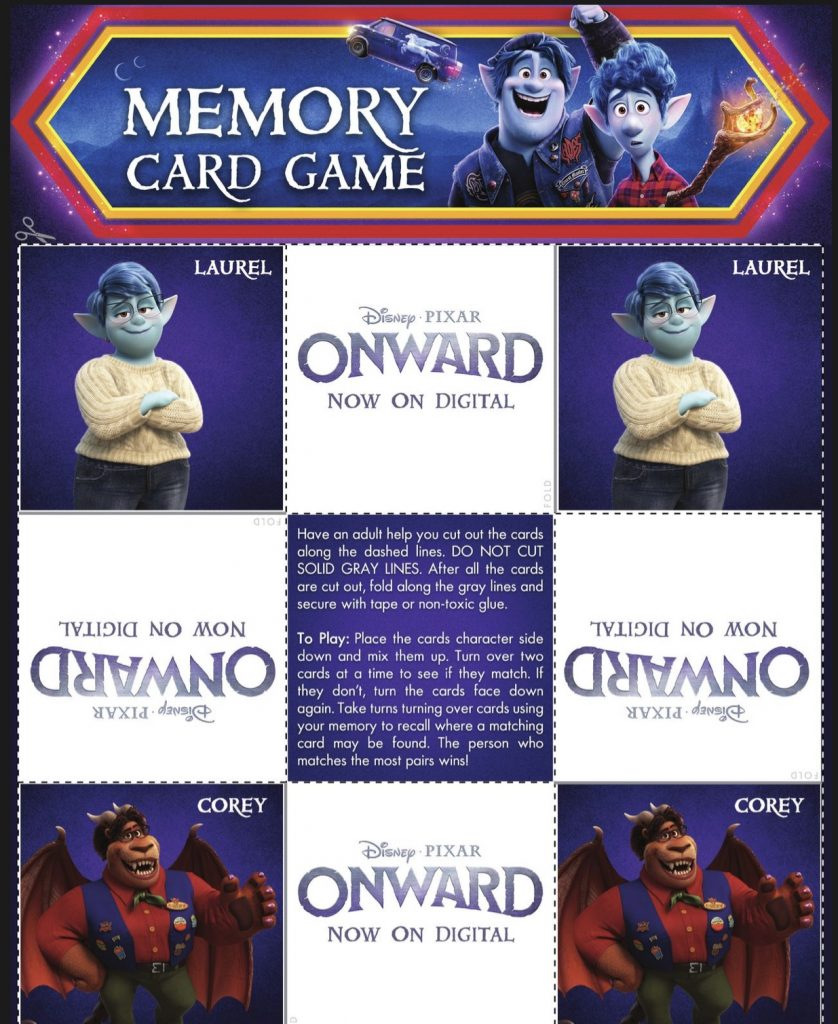Onward Memory Game