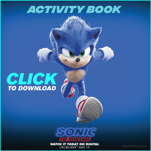 Sonic The Hedgehog Activity Sheets