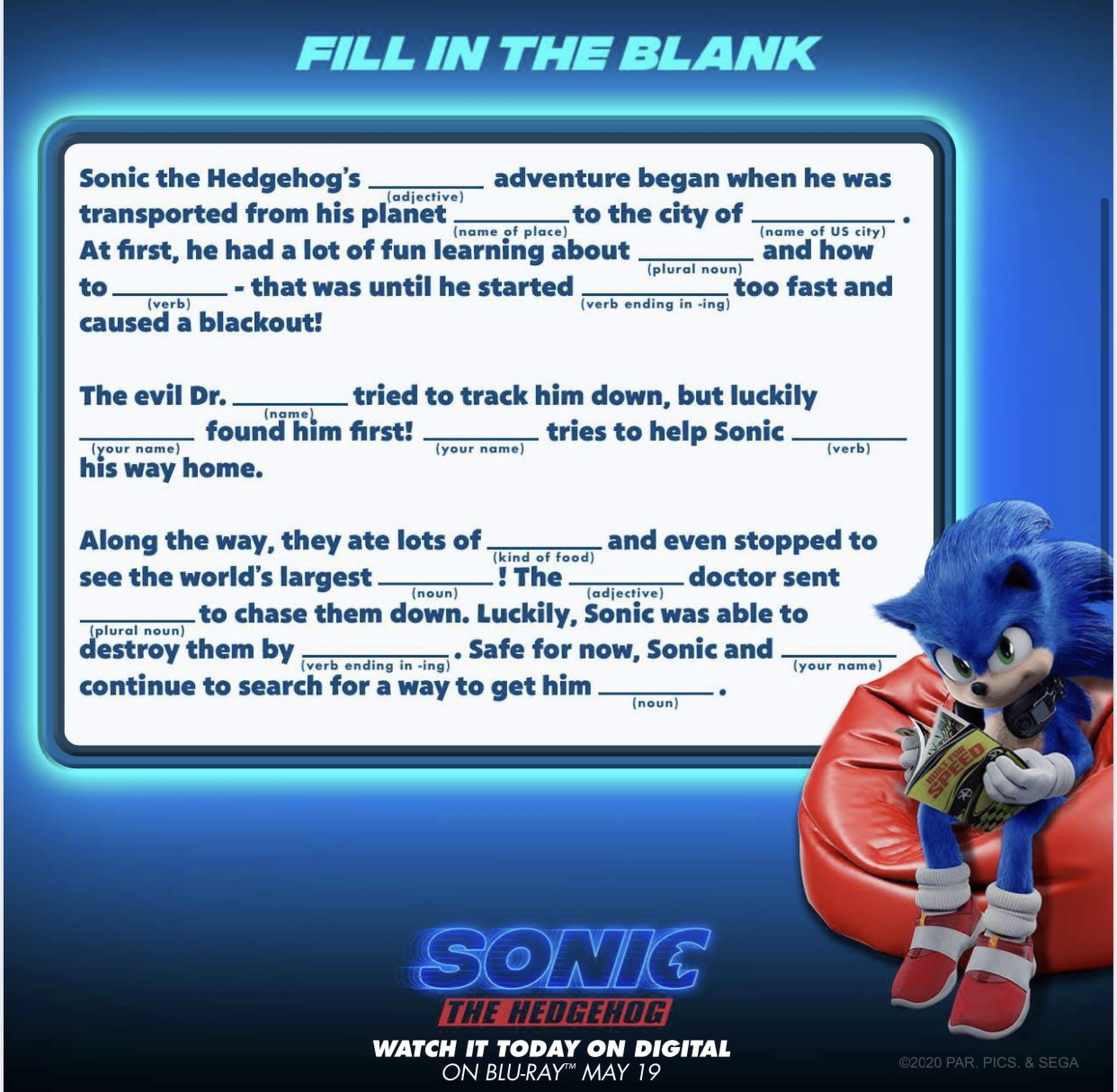 Sonic The Hedgehog Activity Sheets Happy Mess Moments