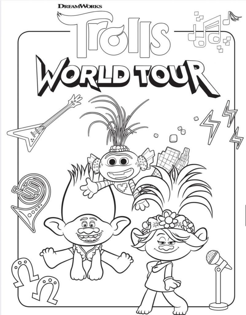 Trolls World Tour Activity Sheets