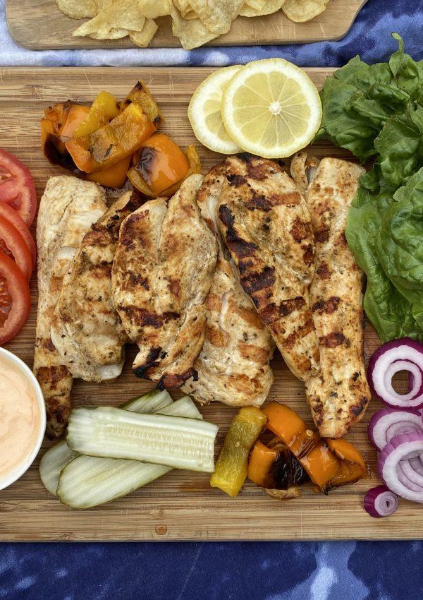 Grilled Cajun Chicken Sandwich Board
