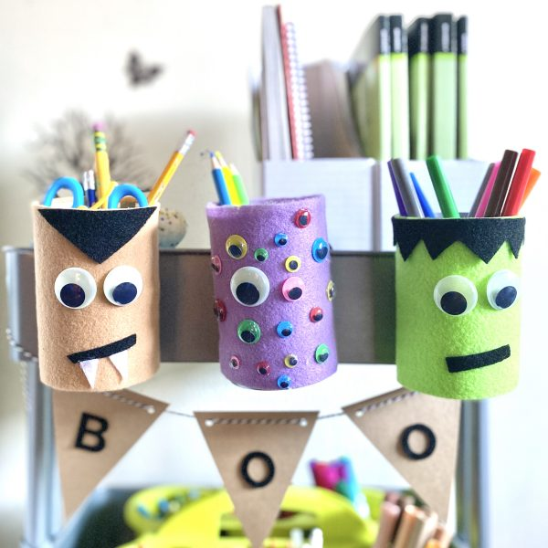 DIY Halloween Pencil Holders
