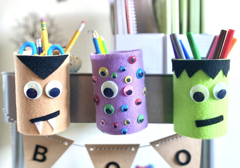 DIY Spooky Halloween Pencil Holders