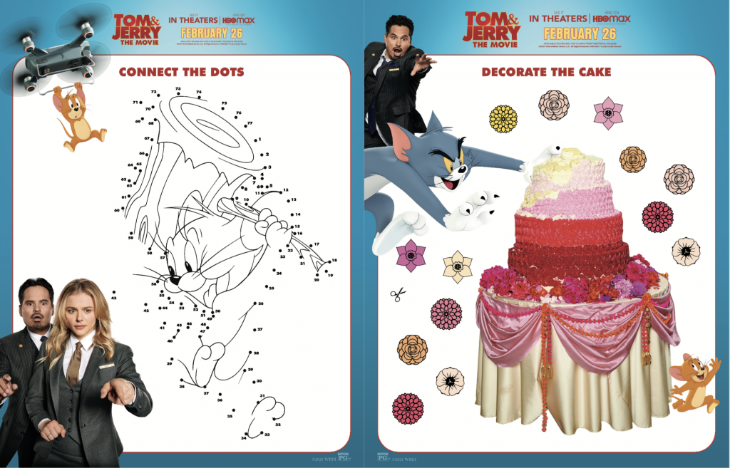 Tom and Jerry The Movie Activity Sheet