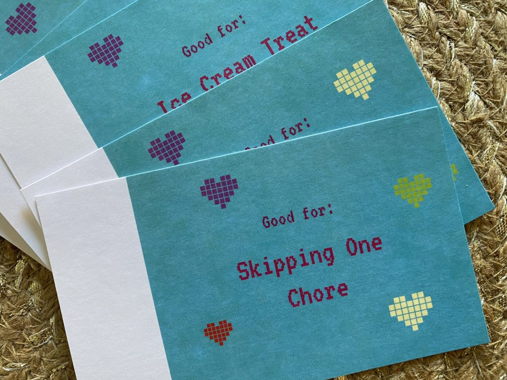 Free Valentine's Day Coupons for Kids to print