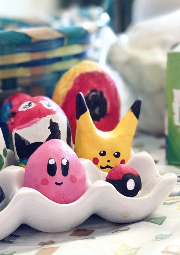 DIY Nintendo Easter Eggs using Molding Clay