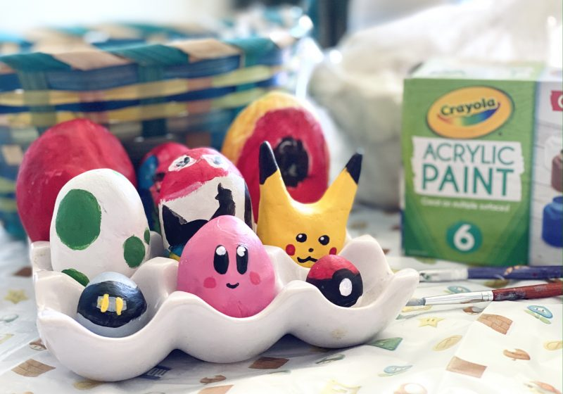 DIY Nintendo Easter Eggs using Molding Clay