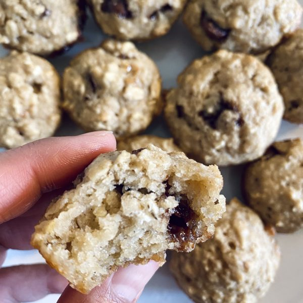 Applesauce Oatmeal Muffins with Chocolate Chips